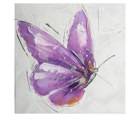 Purple Butterfly Festmény 30x30 cm