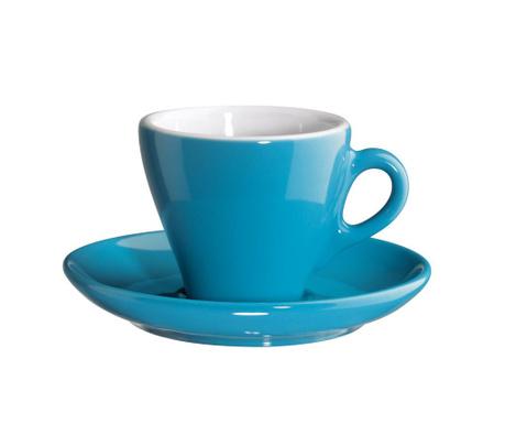Ceasca si farfurioara Caffetia Espresso Turquoise
