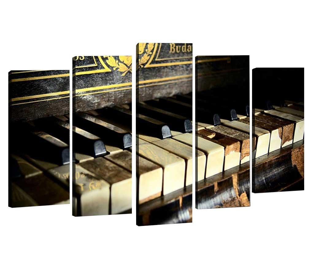 Set 5 slik 3D Old Piano