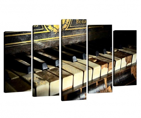 Set 5 slika 3D Old Piano