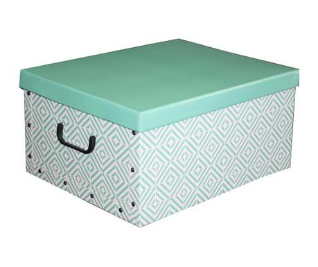 Kutija za spremanje s poklopcem Diamonds Green