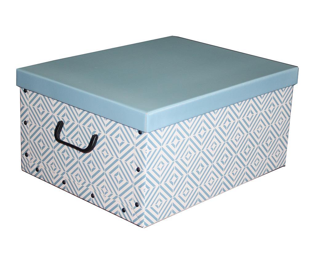 Cutie cu capac pentru depozitare Diamonds Blue