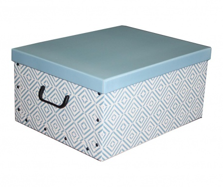 Shranjevalna škatla s pokrovom Diamonds Blue