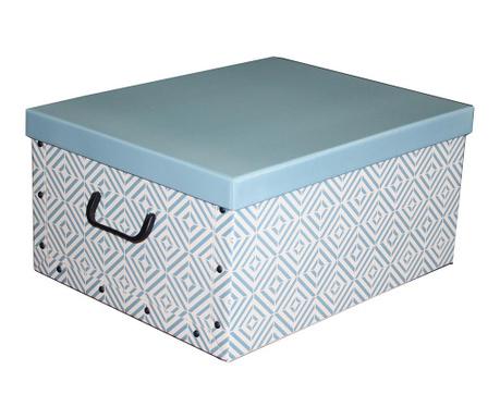 Skladovacia krabica s vekom Diamonds Blue