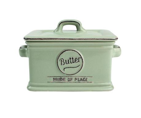 Posuda za maslac s  poklopcem Pride Green