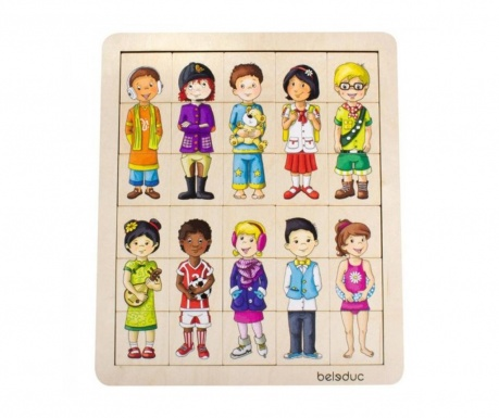 Puzzle din lemn 31 piese Children of the World