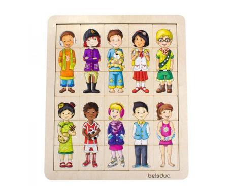 Дървен пъзел 31 части Children of the World