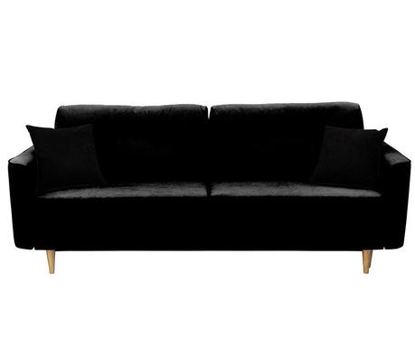 Canapea extensibila 3 locuri Ivy  Black And Black