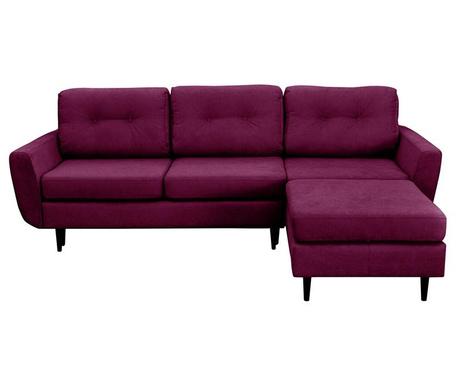Hortensia  Purple Kihúzható  Jobboldali  Sarokkanapé