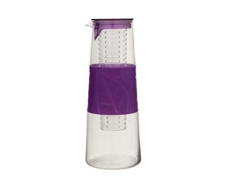 Eria Purple Karaffa fedővel és szűrővel 1 L