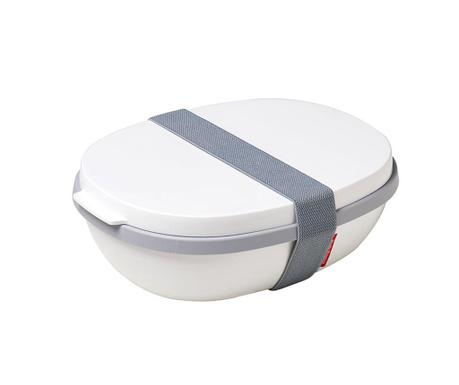 Κουτί μεσημεριανού γεύματος Ellipse Duo White 1.425 L
