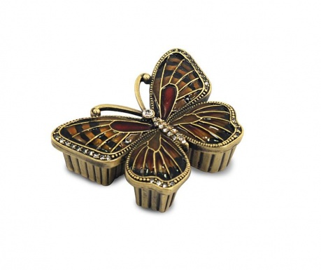 Cutie pentru bijuterii Amber Butterfly