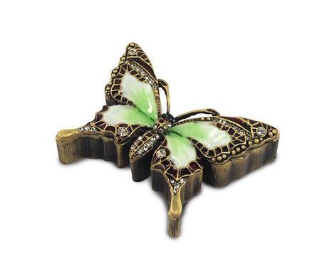 Cutie pentru bijuterii Emerald Butterfly