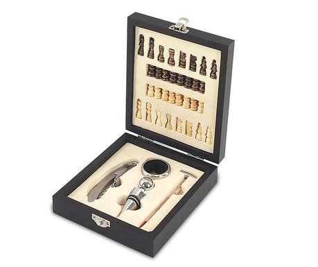 Set joc de sah si 3 acccesorii pentru vin Otoole