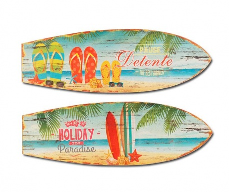 Set 2 decoratiuni de perete Holiday Surf