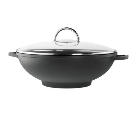Garnek wok z przykrywką Modena 5.5 L