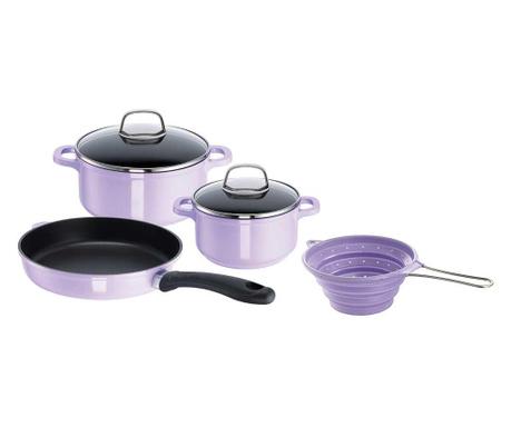 Sześcioczęściowy zestaw naczyń do gotowania Starter Violet Flame