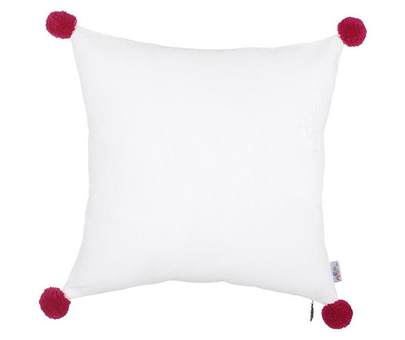 Fata de perna Clover White and Red 41x41 cm