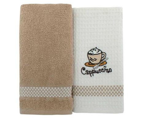 Set 2 kuhinjskih brisač Coffee 45x70 cm