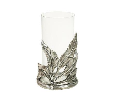 Stojan na sviečku Silver Leaves