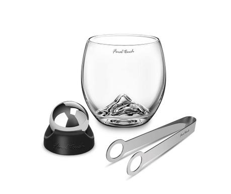 Sada 1 sklenice, 1 chladící kulička, kleště a stojan Rock Premium