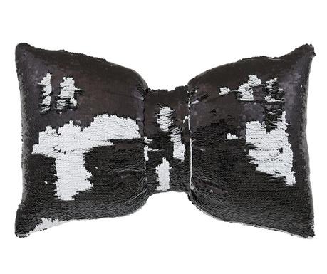 Dekorační polštář Black and White Bow 30x50 cm