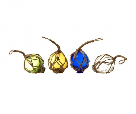 Set of 4 suspended decorations Balls Multicolor