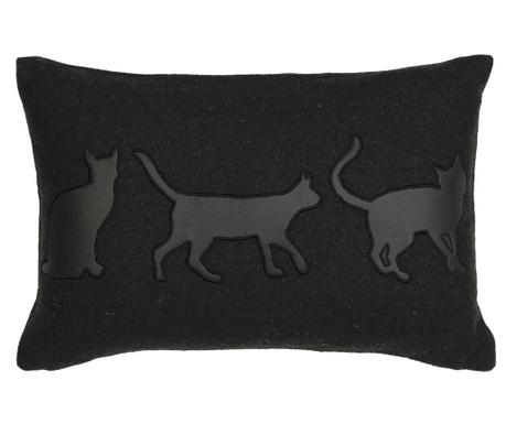 Poduszka dekoracyjna Cats Silhouette 30x45 cm