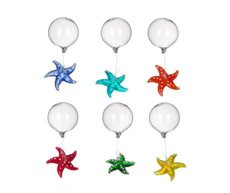 Sada 6 plávajúcich dekorácií Starfish