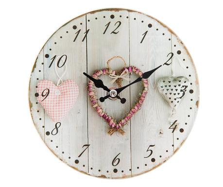 Nástenné hodiny Hearts