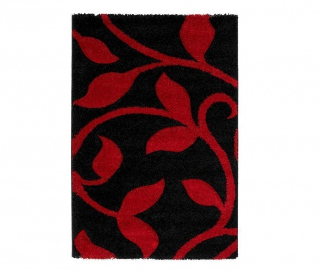 Dywan Flowers Black Red
