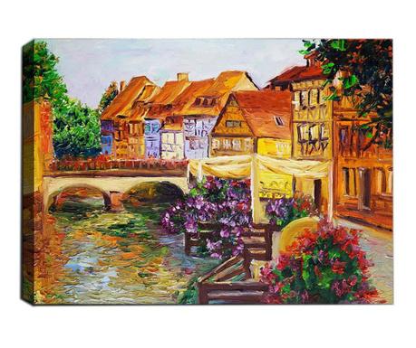 Slika 3D Small Town 50x70  cm