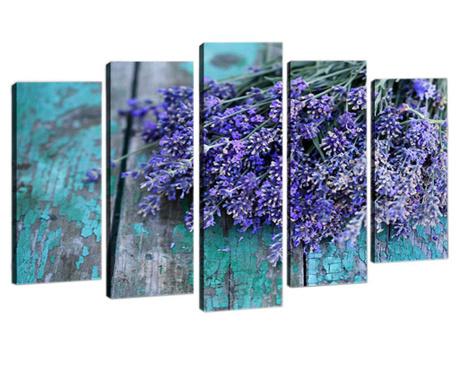 Sada 5 obrazů Provence Bouquet