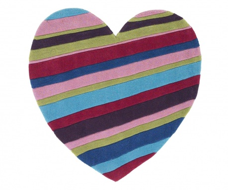 Dywan Hong Kong Striped Heart 90x90 cm