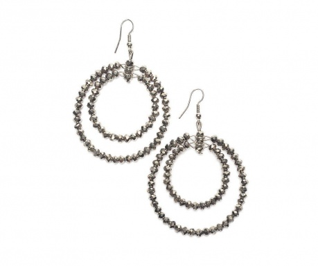 Earrings Silver Gems