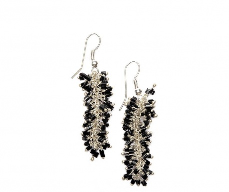 Earrings Black Fasu