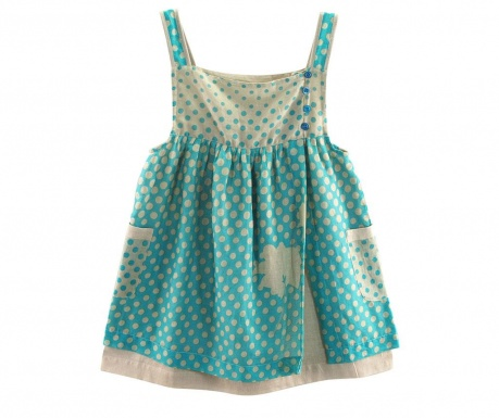 Dress One Leaf Turquoise