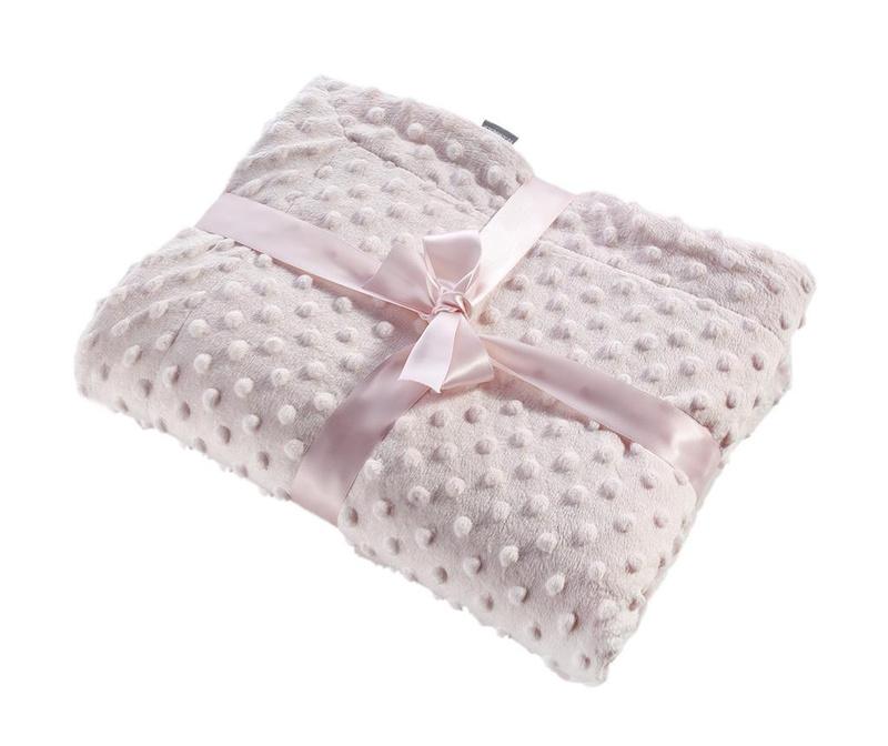 Priročna odeja Bubbles Pink 80x110 cm