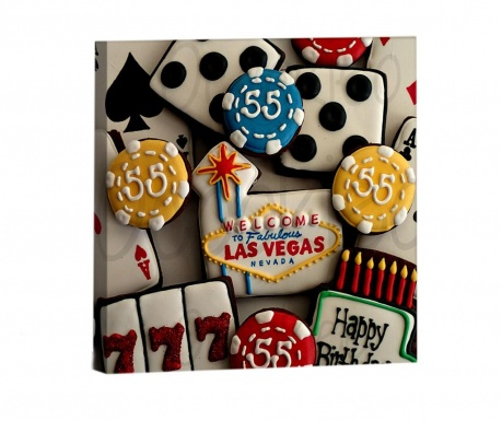 Obraz Happy Birthday Vegas 33x33 cm