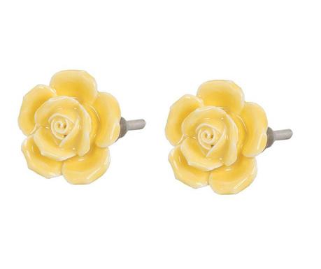 Zestaw 2 gałek do szuflady Yellow Rose