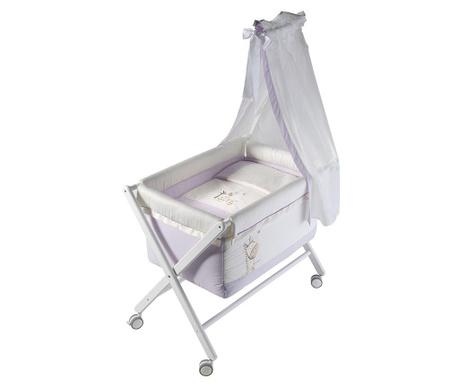 Zestaw łóżeczko z baldachimem i akcesoria Jungle Purple