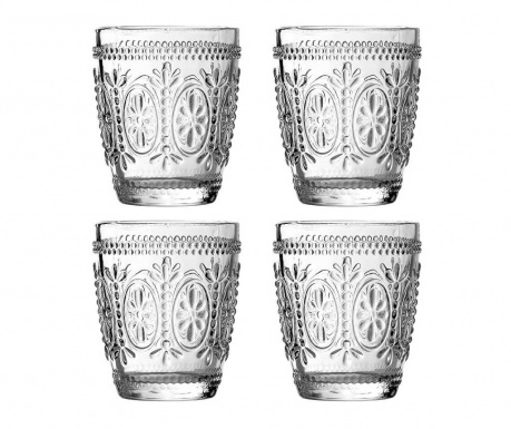 Set of 4 glasses Fleur 280 ml