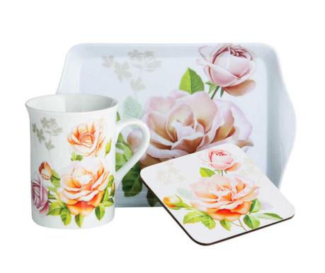 Sada na čaj, 3 ks Peach Rose