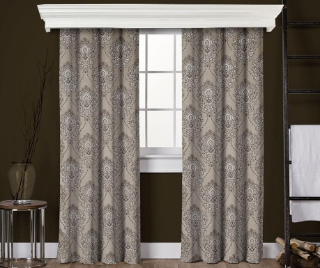 Set of 2 drapes Anisa Stone 145x260 cm