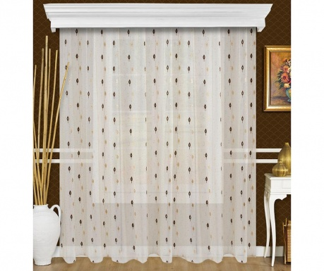 Curtain Fliner White and Gold 200x260 cm
