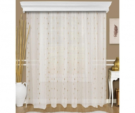 Curtain Fliner White and Brown 200x260 cm