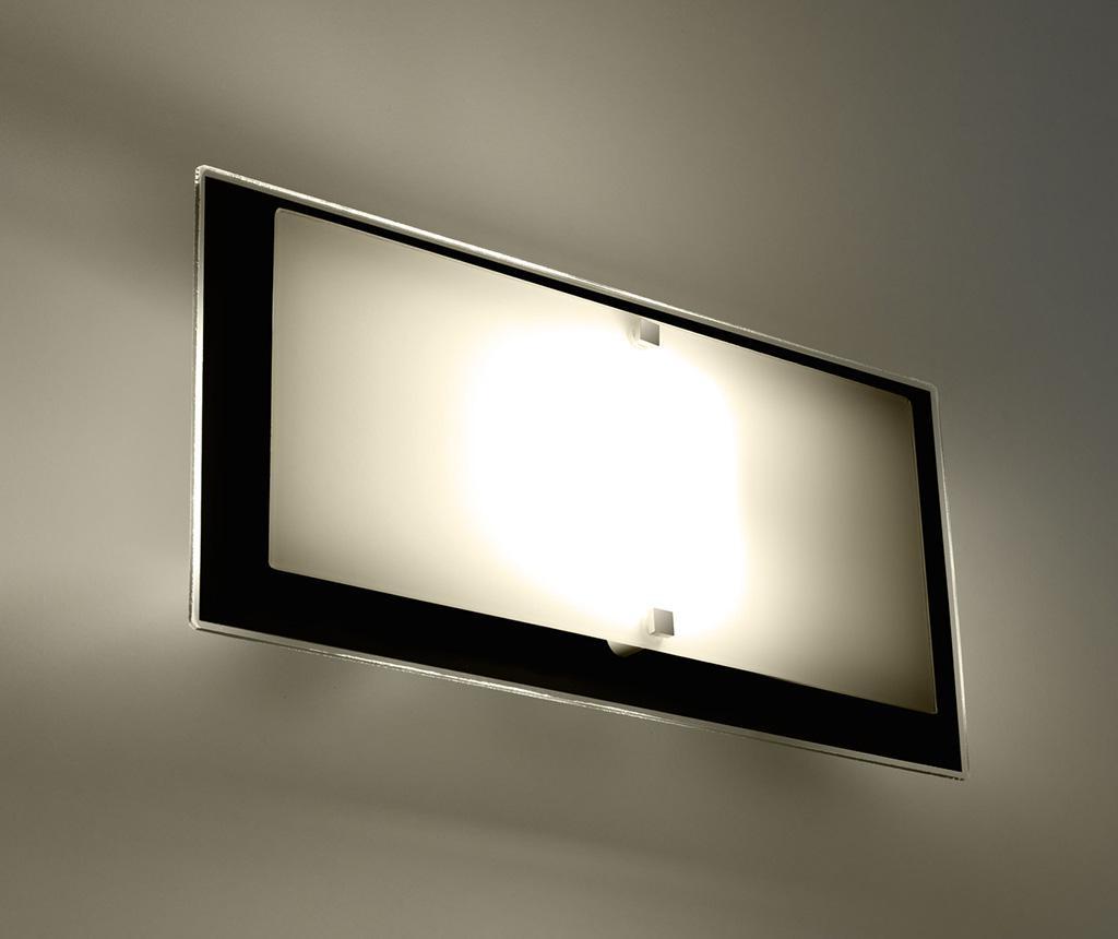 Zidna svjetiljka Elena White Black