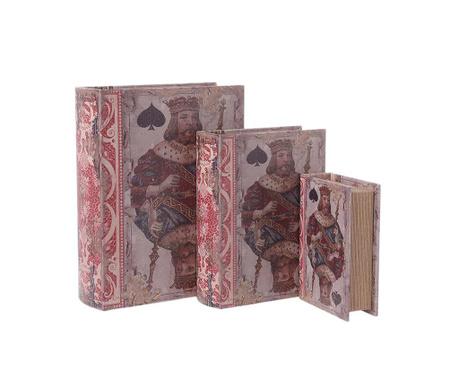 Комплект 3 кутии тип книга Kings of Spades