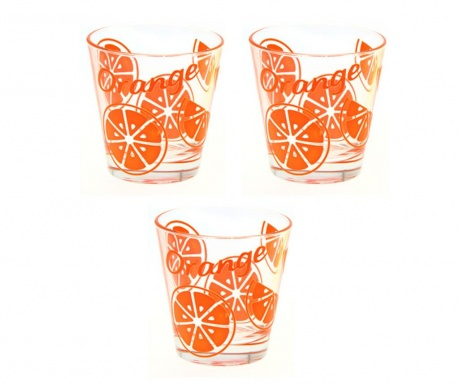 Set 3 pahare Gummy Orange 310 ml