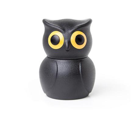 Dop pentru sticla de vin Owl Black